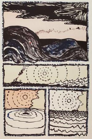 Litografia Alechinsky - Volturno