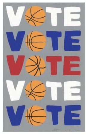 Serigrafia Wood - Vote