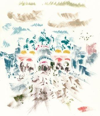 Litografia Masson - Voyage À Venise