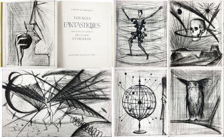 Libro Illustrato Buffet - VOYAGES FANTASTIQUES AUX ÉTATS ET EMPIRES DE LA LUNE ET DU SOLEIL (Cyrano de Bergerac) 1958.