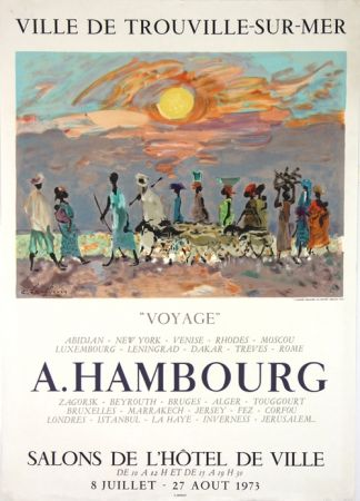 Litografia Hambourg - Voyages  Hotel de Ville de Trouville