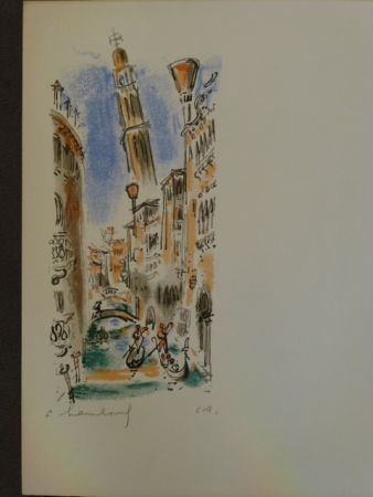 Litografia Hambourg - Vue de Venise