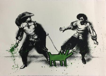 Serigrafia Mr Brainwash - Watch Out! (Green)