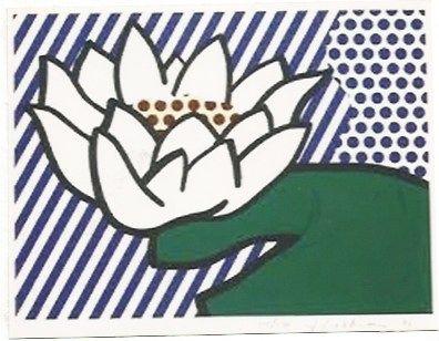 Serigrafia Lichtenstein - Water Lily