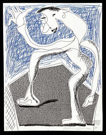 Non Tecnico Hockney -  Waving, April  1986