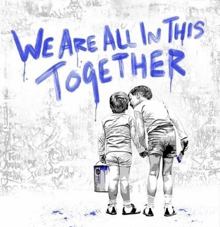 Serigrafia Mr Brainwash - We Are All In This Together
