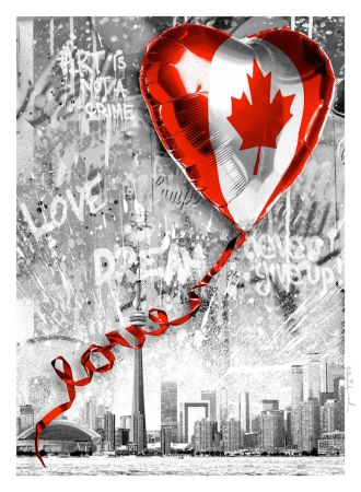 Serigrafia Mr. Brainwash - We Love Canada