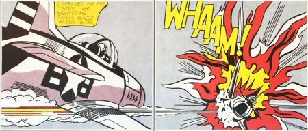 Litografia Lichtenstein - 'WHAAM! (Diptych)' Pop Art Poster Print Set