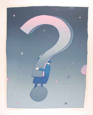 Serigrafia Folon - What ?