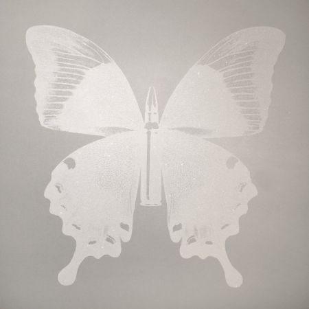 Serigrafia Robierb - White Bullet Fly N-1 on Silver