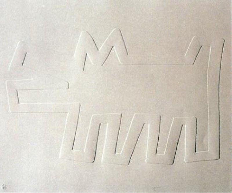 Serigrafia Haring - White Icons: Barking Dog