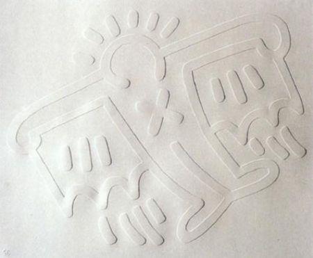 Serigrafia Haring - White Icons: Batman