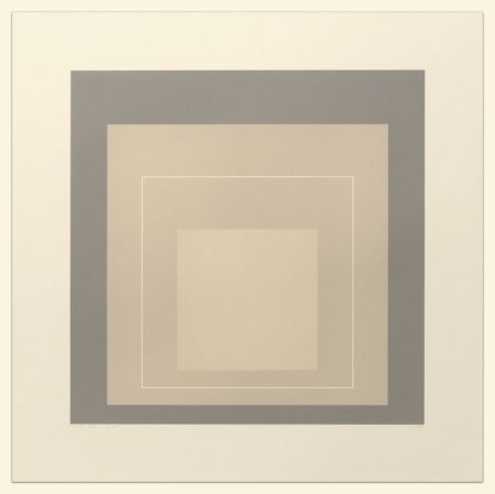 Litografia Albers - White Line Squares (Series Ii), Xiv