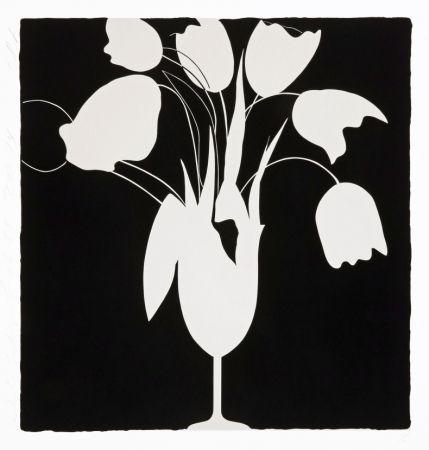 Serigrafia Sultan - White Tulips and Vase