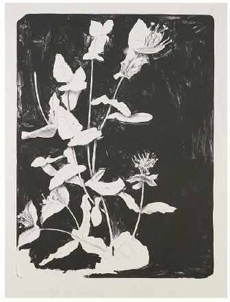 Litografia Dine - Wildflowers in New York II