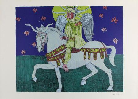 Litografia De Rosa - Winged Rider