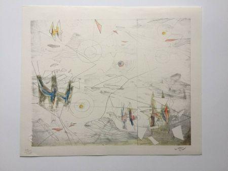 Litografia Matta - Wings of light (from Morfolgie Verbali)