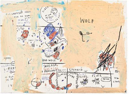 Serigrafia Basquiat - Wolf Sausage