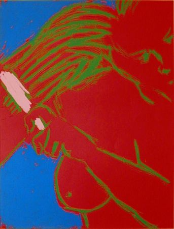 Serigrafia Segal - WOMAN BRUSHING HER HAIR