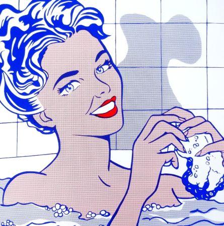 Serigrafia Lichtenstein - Woman In Bath