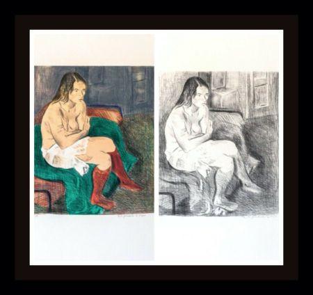 Litografia Soyer - Woman in Red Stockings Portfolio