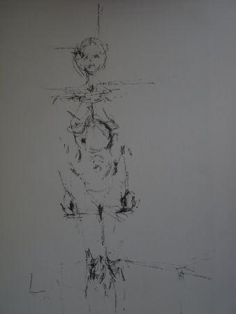 Litografia Giacometti - Woman standing