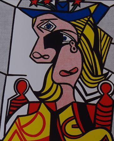 Serigrafia Lichtenstein - Woman with flowered hat