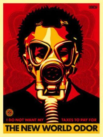 Serigrafia Fairey - World Odor