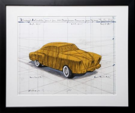 Serigrafia Christo - Wrapped Automobile (Project For 1950 Studebaker Champion Series)