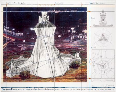 Litografia Christo - Wrapped Fountain
