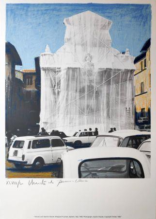 Multiplo Christo - Wrapped fountain Spoleto