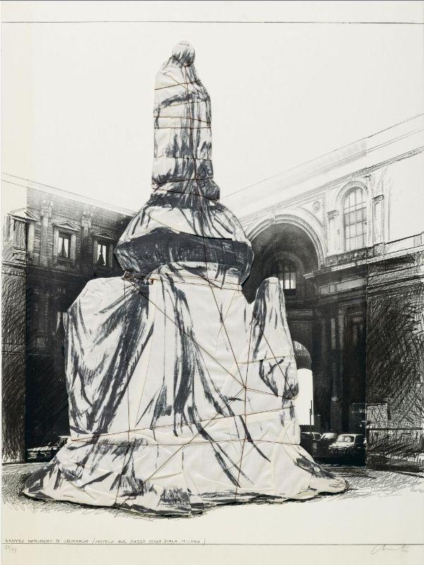 Multiplo Christo - WRAPPED MONUMENT TO LEONARDO