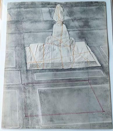 Litografia Christo - Wrapped monument to Vittorio Emmanuele