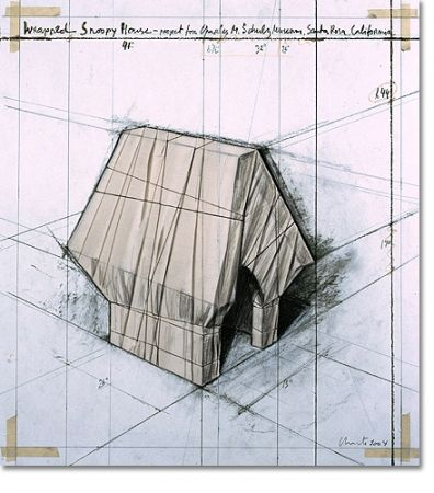 Litografia Christo - Wrapped Snoopy House