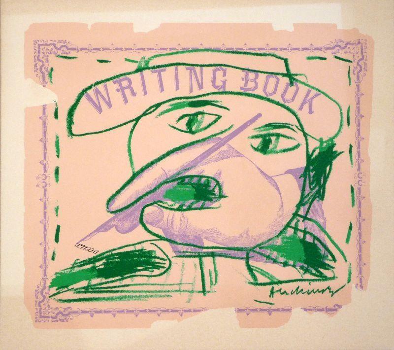 Litografia Alechinsky - Writing Book