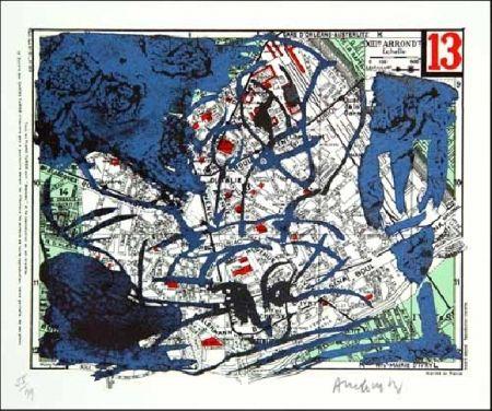 Litografia Alechinsky - XIIIe Arrondissement