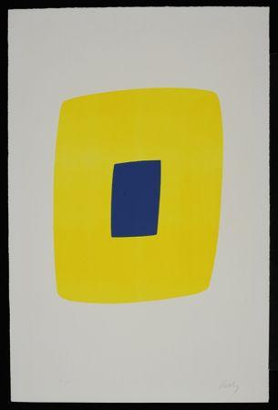 Litografia Kelly - Yellow with Dark Blue VI.12