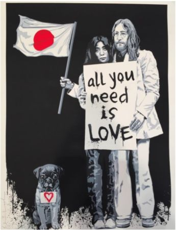 Serigrafia Mr Brainwash - Yoko Ono and John Lennon