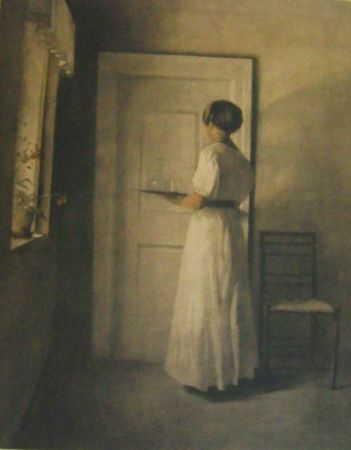 Maniera Nera Ilsted - Young Girl With A Tray