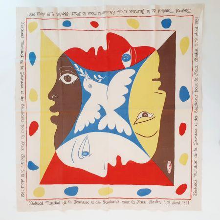 Serigrafia Picasso - YOUTH FESTIVAL SCARF 1951