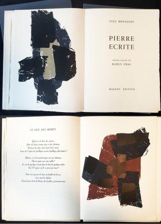Libro Illustrato Ubac - Yves BONNEFOY . PIERRE ÉCRITE. Ardoises taillées par Raoul Ubac