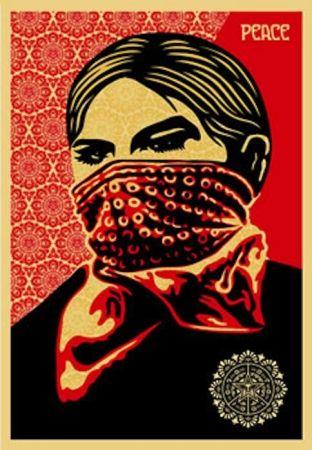 Serigrafia Fairey - Zapatista Woman. Large Format