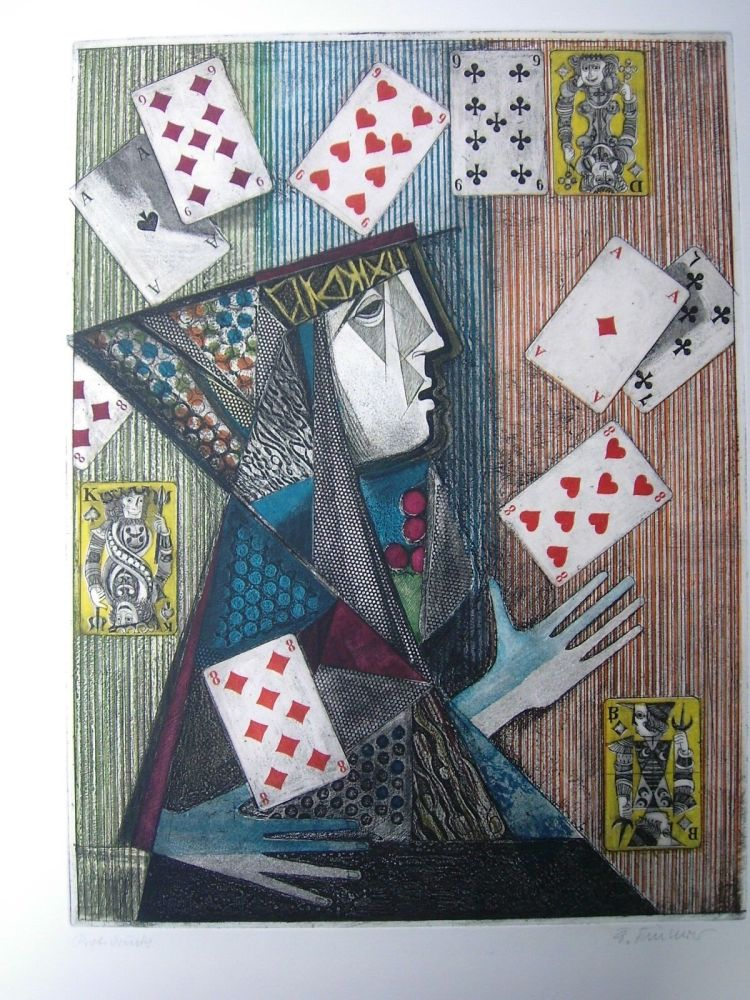Acquaforte E Acquatinta Finsterer - Zauberer / Magician