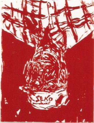 Incisione Su Legno Baselitz - Zero for the painter