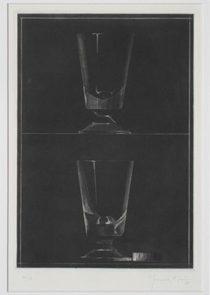 Acquatinta Hernandez Pijuan - Zwei Gläser